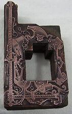tampon matrice sceau cartouche frise encadrement decor ruban pour lettrage