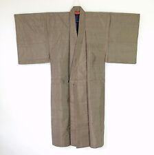 Japanese Vintage Men's Brown Silk Kimono H70