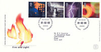 1 FEBRUARY 2000 FIRE AND LIGHT ROYAL MAIL FIRST DAY COVER BUREAU SHS (a)