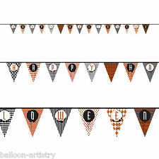 14ft Happy Halloween Spooky Style Pennant Flag Banner Bunting Party Decoration