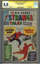 Strange Tales Annual #2 CGC 4.0 VG SS STAN LEE Early Spider-Man vs Human Torch