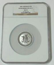 2001 $2 Australia Kookaburra .999 Silver 2 oz. Coin NGC MS70 Population 3