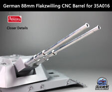 Amusing Hobby 1/35 88mm Flakzwilling Flakpanzer E-100 CNC Barrel for 35A016