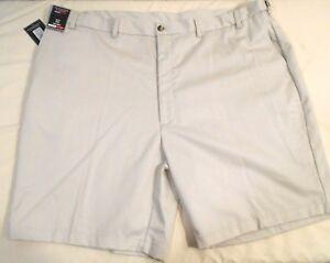 ROUNDTREE & YORKE big mens pale beige TravelSmart khaki shorts size 52 NWT