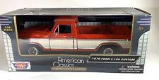 1979 Ford F-150 Pickup Truck Red & Cream 1:24 Diecast Model Car by MotorMax Sams