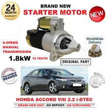 für Honda Accord 2.2 iDTEC Anlasser ab 2008 Fabrikneu 10 Zahn 1.8Kw CU CW