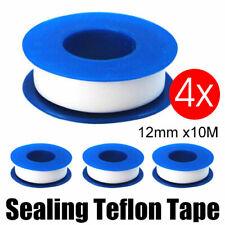 4 Pack Sealing Teflon Tape 12mm x10m White Thread Water Plumbing Pipe TeflonTape