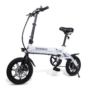 14 Inch Folding Electric Bike Power Assist Electric Bicycle E-Bike Scooter 250W