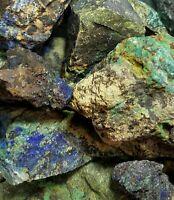 Azurite Malachite 1/2 lb Natural Crystal Raw Gemstone Reiki Grid Jewelry Healing