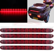 """4pcs Red 15"""" RV Truck Trailer Lamp Stop Tail Turn and brake Light 11 LED"""