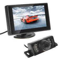 "Car Reverse Parking Camera With Radar Sensor 4.3"" Foldable LCD Rear View Monitor"