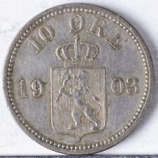 1903 Norway 10 Ore VF/XF lightly cleaned, Silver