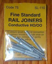 Peco #SL-110 Fine Standard Rail Joiners Code 75 (12 in pkg) ( HO Scale )