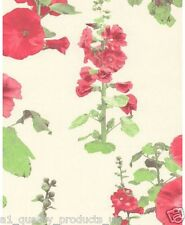 Lutece Wallpaper, Red Floral Patterned, Featured Wall, BN, RRP £29. 51132113