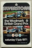 BRITISH GRAND PRIX 1971 FORMULA ONE F1 SILVERSTONE Official Race Programme