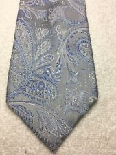 COUNTESS MARA MENS TIE GRAY WITH BLUE AND WHITE 3.5 X 61