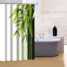 "Bamboo Relaxing Art Fabric Shower Curtain Waterproof with Hooks 72""x 72"""