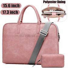 15.6/17.3'' Ladies Computer Bag Leather Shoulder Laptop Handbag Briefcase