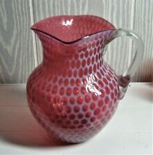EAPG *** CRANBERRY = OPALESCENT PITCHER = WINDOWS = HOBBS #335 = SQUARE TOP