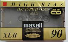 Maxell XLII HIGH BIAS 90 MIn. Audiokassette Ideal for CD NEU & OVP noch in Foli