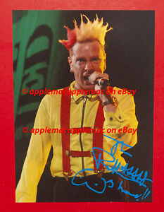 Johnny Rotten Autograph 8X10 Photo Sex Pistols SIGNED IN PERSON
