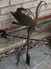 Vintage Weather Vane, Blacksmith Cast Iron - SWAN  Or Take Off For Plain!