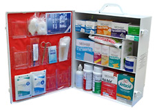 Heavy Duty 3-Shelf Industrial Wall Mount First Aid Cabinet Health Kit, Filled