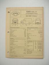 fiche technique  L'EXPERT AUTOMOBILE -FORD TRANSIT 80 essence