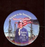 John KERRY 2004 CONVENTION Boston pin REVOLUTIONARY WAR CLOTHING pinback