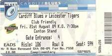 CARDIFF BLUES v LEICESTER 21 Aug 2009 RUGBY TICKET 1st GAME AT CITY STADIUM