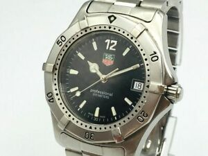 TAG HEUER Watch 2000 WK1110-0 Black  Quartz St.Steel Date   T2165