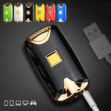 Electrical Fingerprint induction No-flame Lighter Windproof Double Arc Charged
