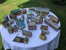 Model Railway Assortment Of Buildings In Cardboard