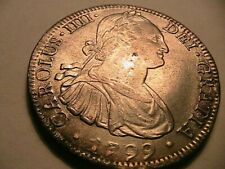 1799 Mo FM Mexico 8 Reales Ch XF+/AU Lustrous Charles IIII of Spain Silver Coin