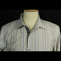 Banana Republic Striped Long Sleeve 100% Cotton Shirt Men Sz 16 16.5 L EUC