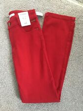 MARKS & SPENCER WOMENS RED SLIM LEG JEANS, Size 6 Short, Bnwt