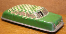 Vintage 1940s ARGO Green White TIN TOY TAXI -- LOOK this one has silver accents