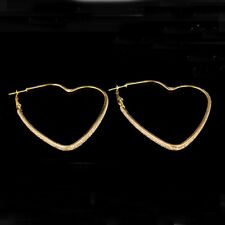 Heart Crystal Hoop Earrings Earrings Plated Lovely Stainless Steel For Women
