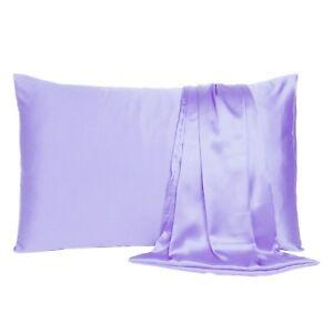 Satin Silk Pillowcase Pillow Case Cover King Queen Standard Cushion Cover New