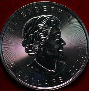 Uncirculated 2020 Canada .999 Silver 1oz $5 Foreign Coin