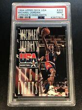 MICHAEL JORDAN 1994 UPPER DECK USA #JH2 JORDAN'S HIGHLIGHTS GOLD FOIL SIG PSA 9