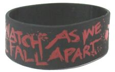 """HOLLYWOOD UNDEAD """"WATCH AS WE ALL FALL APART"""" SILICONE WRIST BAND NEW OFFICIAL"""