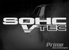 Set of 2 HONDA SOHC VTEC JDM Civic Accord Car Wall Window Vinyl Decal Sticker