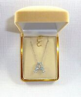 """1.75ct Genuine Light Blue Topaz, Italy 925 Sterling Silver """"A"""" Pendant & Chain"""