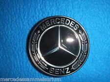 Mercedes Benz Original Pièce 4 Enjoliveurs De Roue 75mm Couronne De Laurier Noir