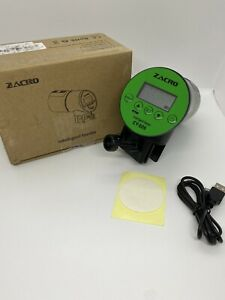 Zacro Automatic Fish Feeder Rechargeable Fish Feeder with USB Charger Cable