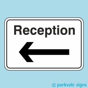 Reception Sign (Arrow Left)