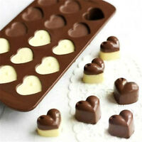 15 Love Heart-shape Chocolate Mould Cake Jelly Silicone Candy Mold