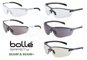 Bolle Safety Glasses SILIUM & SILIUM+ Anti-scratch Anti-fog Clear Smoke CSP Lens