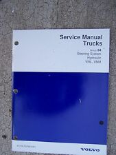 1996 Volvo Truck Service Manual Hydraulic Steering System VNL VNM    T